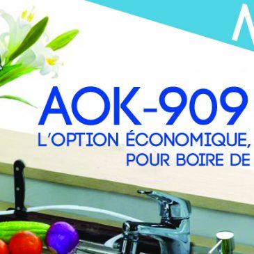 AOK-909 distributeur d'eau purifiée, alcaline, ionisée.
